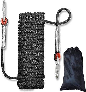 Cuerda de Escalada al Aire Libre Cuerda de Escalada Estática de 10mm de Diámetro, Cuerda de Nylon Trenzada de Alta Resistencia, Cuerda de Paracaídas ...