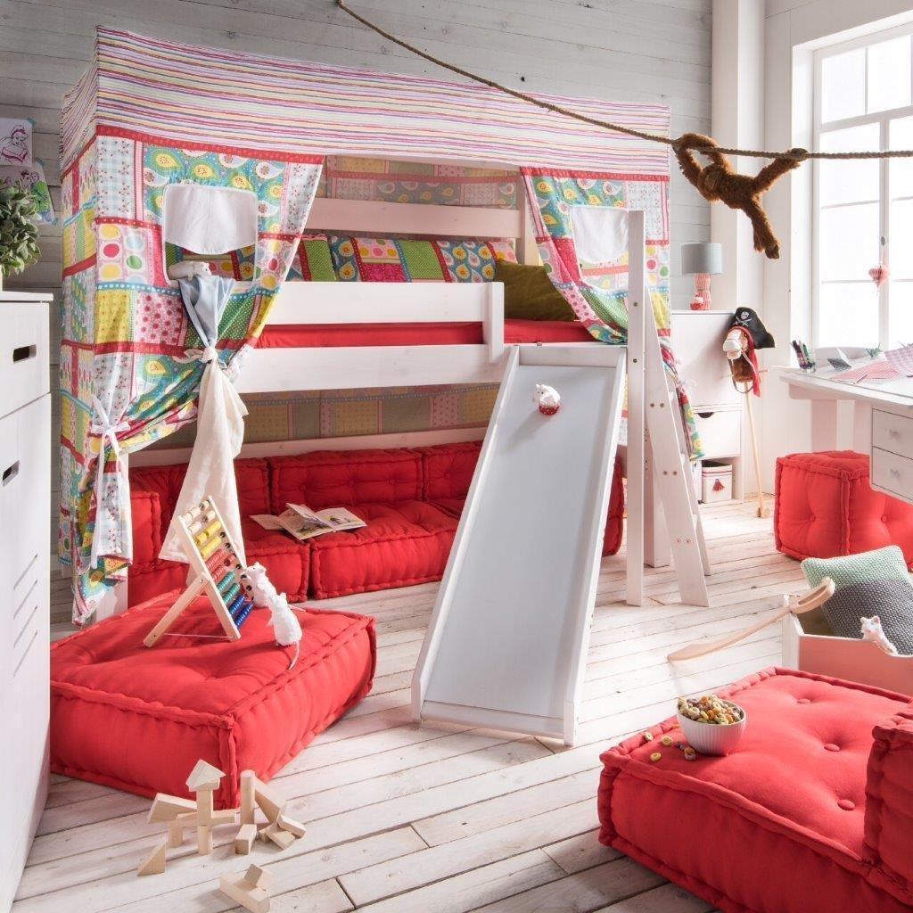 Hochbett Etagenbett Kinder Bett Fiona Beduinen Zelt Hohle Massivholz