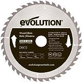 Evolution Power Tools–construire Rageblade255wood Evolution 255mm Bois Tête en carbure Lame, 0V, Multi, 255mm