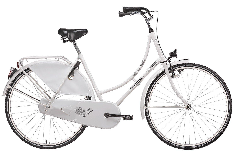 size 40 f6d3a 0ec32 Bermuda Hollandrad 28 Valencia Stadtrad Damen Holland Fahrrad Citybike  Beleuchtung Gepäckträger Rücktrittbremse (weiß)