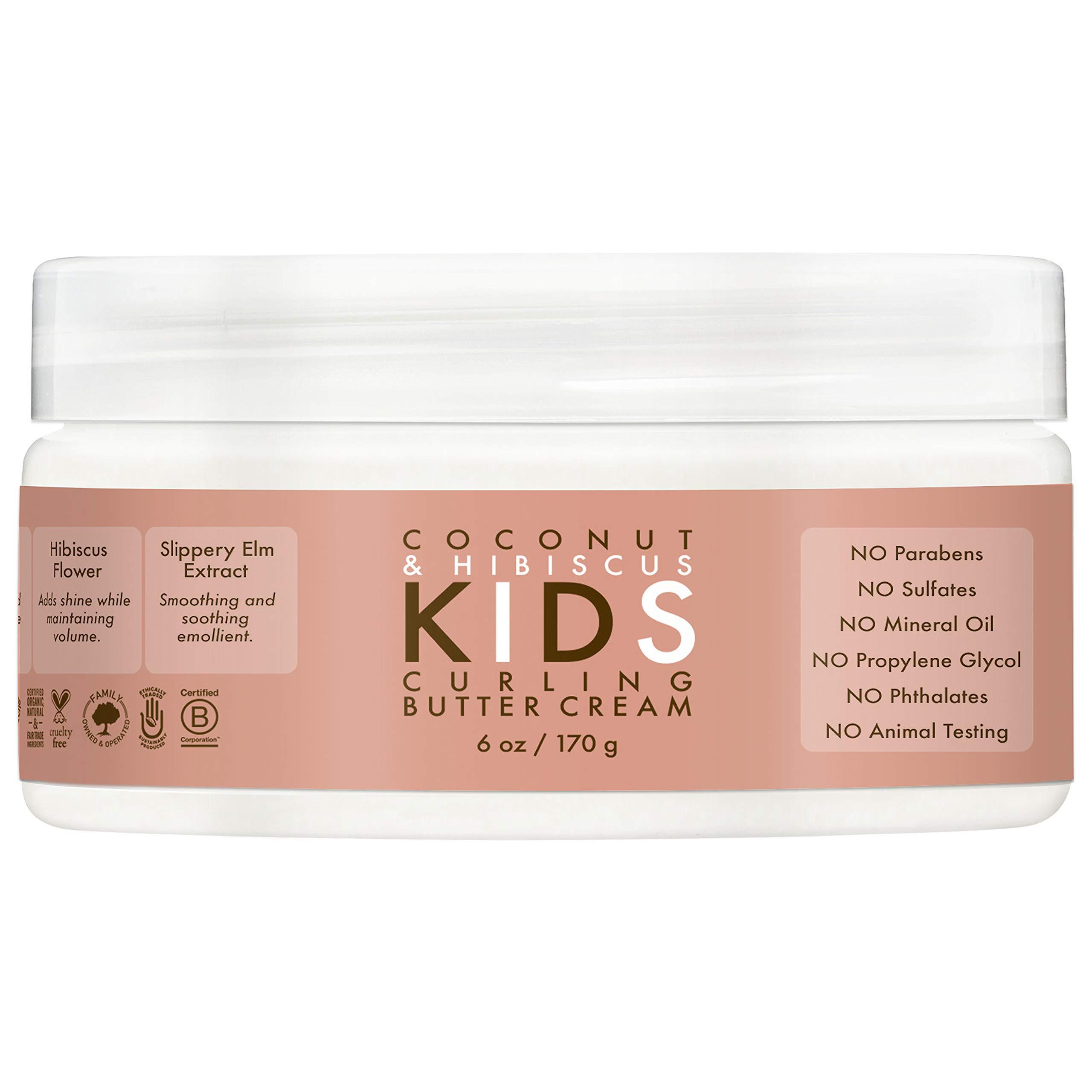 SheaMoisture Kids Coconut & Hibiscus Curling Butter Crème, 6 Ounce
