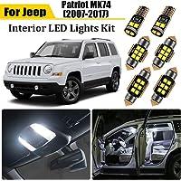 8pcs White LED Interior Light Kit forJeep Patriot 2007-2012 2013 2014 2015 2016 2017 Super Bright Interior LED Bulbs LED…