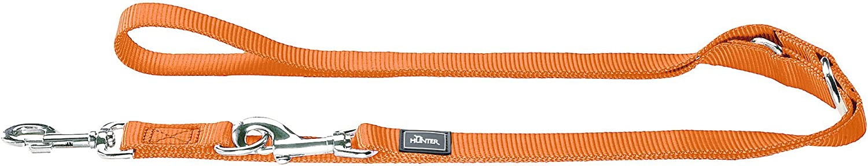 griffigem Nylon f/ür Freizeit und Hundeplatz 3-fach verstellbare F/ührleine aus weichem HUNTER klassische