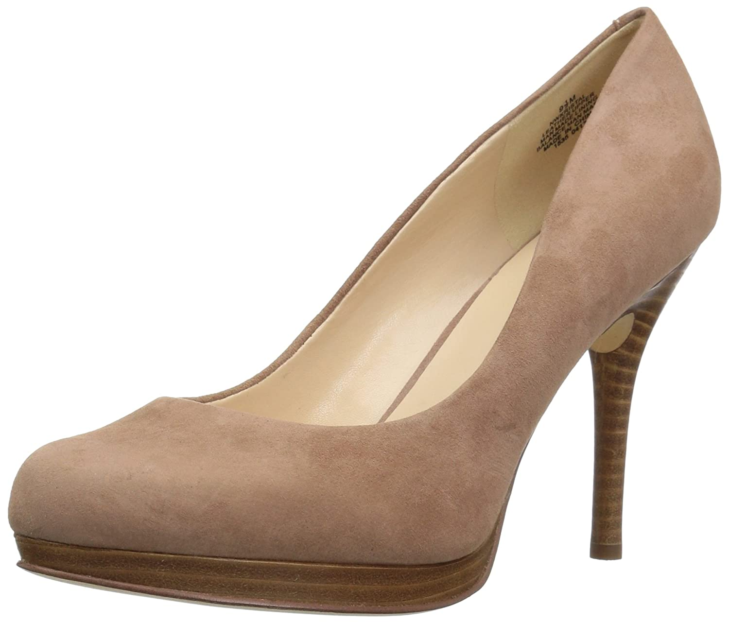 Nine West Women's Kristal Suede Dress Pump B01NAEUQFD 7 B(M) US|Light Natural