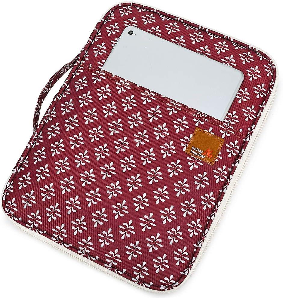 25CM 35 Burgund Multifunktionale Reisepasstasche Dokumententasche Reiseorganizer Reisebrieftasche Handtasche mit Rei/ßverschluss f/ür Damen und Herren