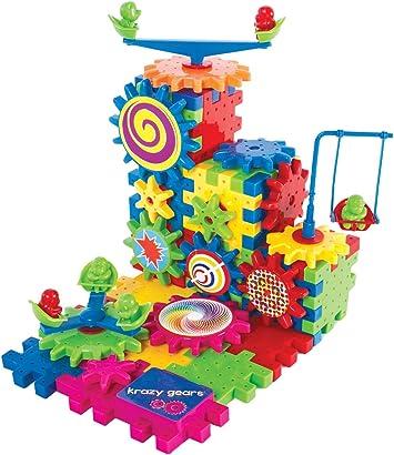 Gear Building Toy Set - Interlocking Learning Blocks - Motorized ...