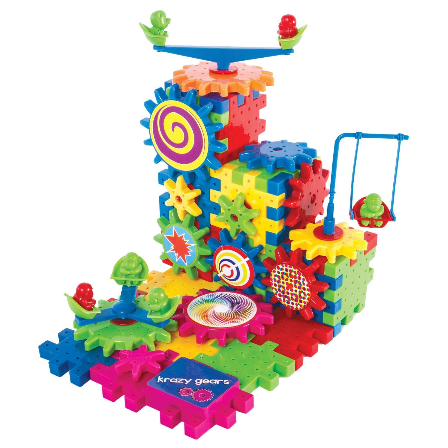 Amazon Krazy Gears Gear Building Toy Set Interlocking