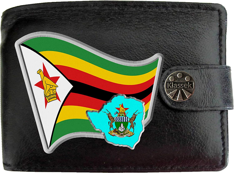 Zimbabwe Flag Denim Wallet