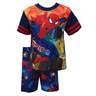Marvel Comics Leaping Spiderman Toddler Pajamas for Little Boys (2T)