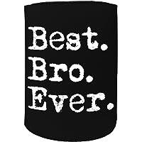 123t Stubby Holder - Stubbie Holders Cooler Best Bro Ever Brother - Funny Novelty Birthday Gift Joke Beer Can Bottle Koozie Coozie Gift Present