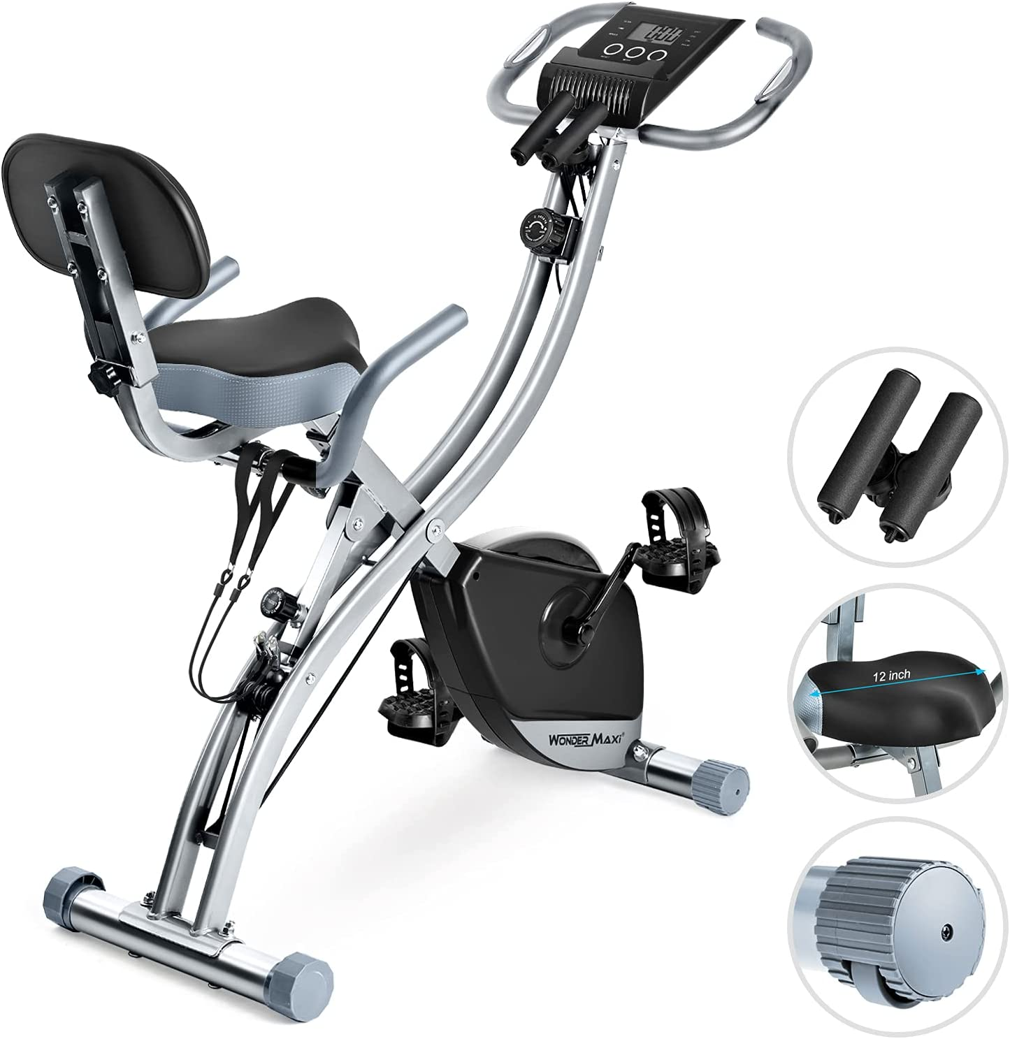 Indoor Magnetic Upright// Recumbent Exercise Bike with Tablet Holder