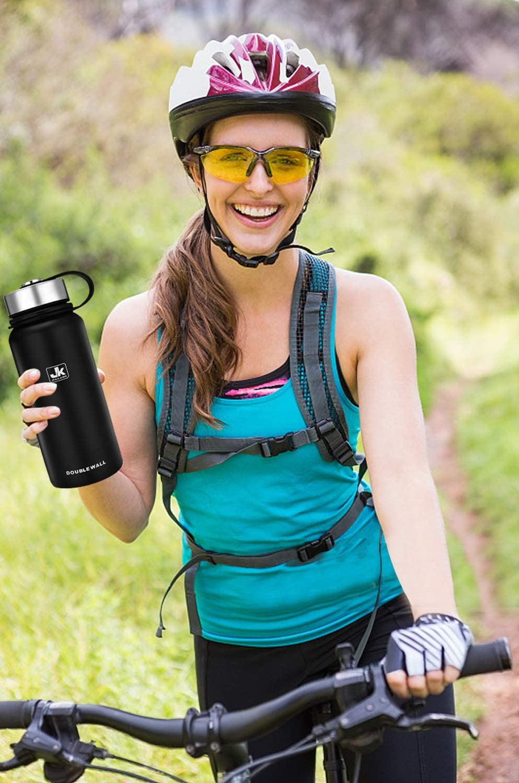 Cantimplora Aislada CX/&LL Botella Agua Termo Acero Inoxidable 800ml Sin BPA Free Antigoteo y Prueba de Fugas Frasco t/érmico