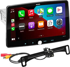 Sound Storm Laboratories SDML9ACPR Apple CarPlay Android Auto Car Multimedia Player – Single Din Chassis with 9 Inch Capacitive Touchscreen, Bluetooth, No DVD, High Resolution FLAC, RGB Illumination