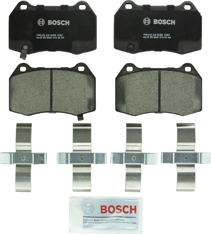 Front QX50,QX70 Pathfinder G25,35,37 Q70L; Nissan 350Z Q40,Q45,Q70 Murano M35,M35h,M37,M45,M56 370Z Bosch BC888 QuietCast Premium Ceramic Disc Brake Pad Set For: Infiniti EX35,37; FX35,37,45