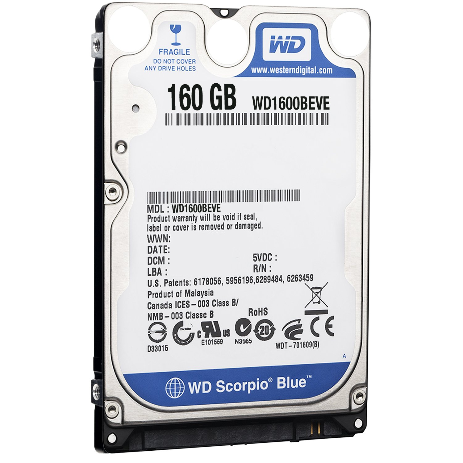 WD Scorpio Blue 160GB EIDE 8MB Cache 2.5 inch Internal Hard Drive OEM