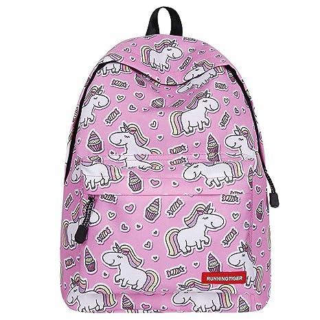 LULU Bag Zaino per Ragazze Unicorn,Sacchetti di Scuola per