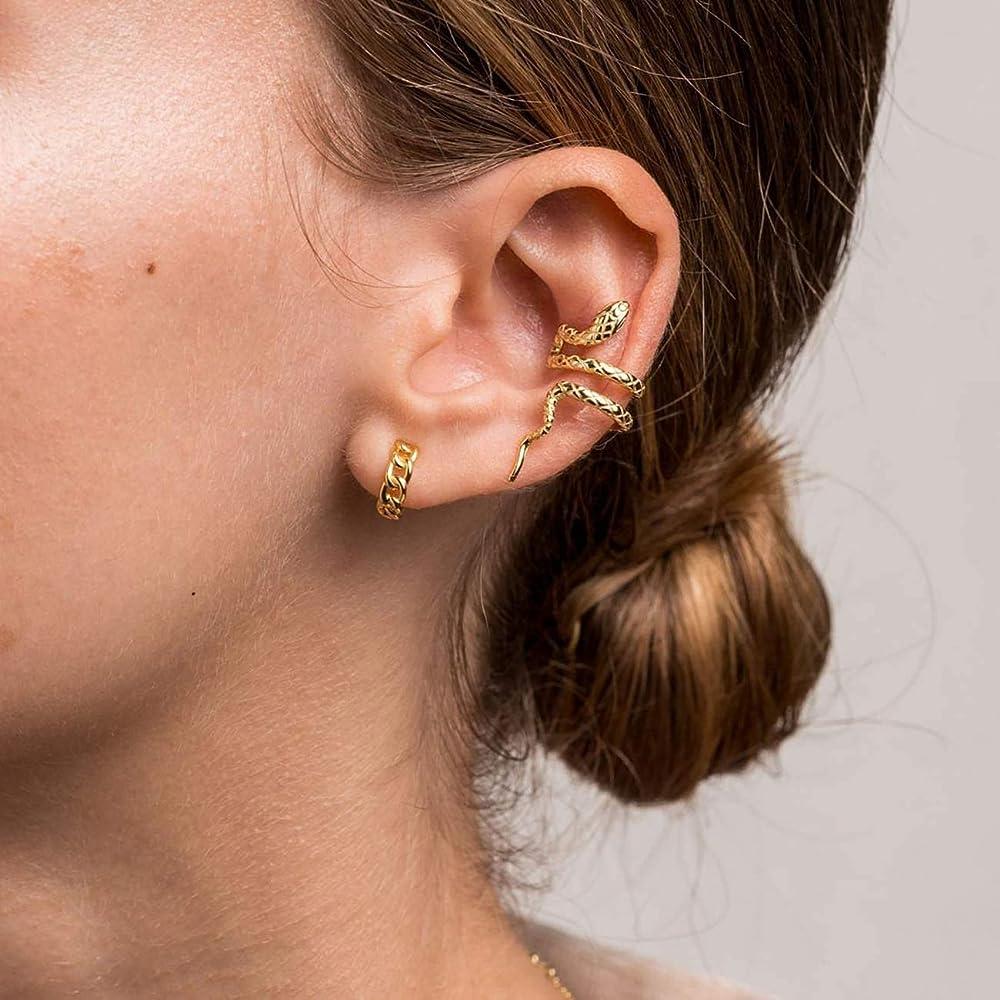 Golden Mandala Spiral Non-Piercing Cartilage Tragus Ear Clip