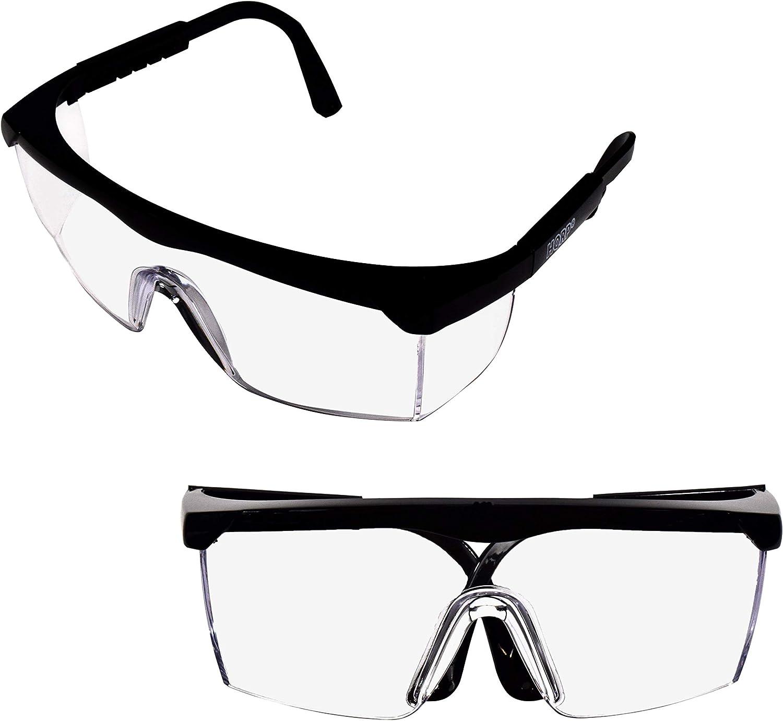 HQRP 2 pares de gafas de protección UV sin teñir/gafas de seguridad para Tiros, Campo de tiro, Airsoft, Armas de Nerf, Racquetball, Lucha de globo de agua