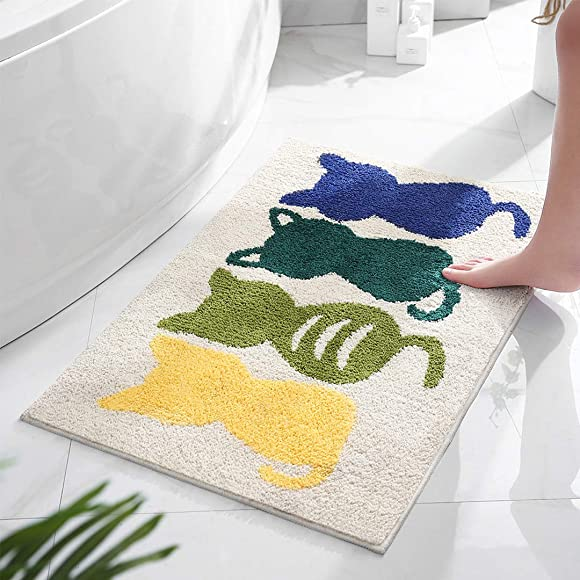 Doormat Bath Rugs Bathroom Kitchen Front Pet Cat Door Shower Mat Indoor Outdoor Entrance KQ 6090