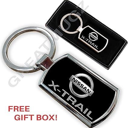 Cargifts Llavero de Metal Cromado para Nissan X-Trail ...