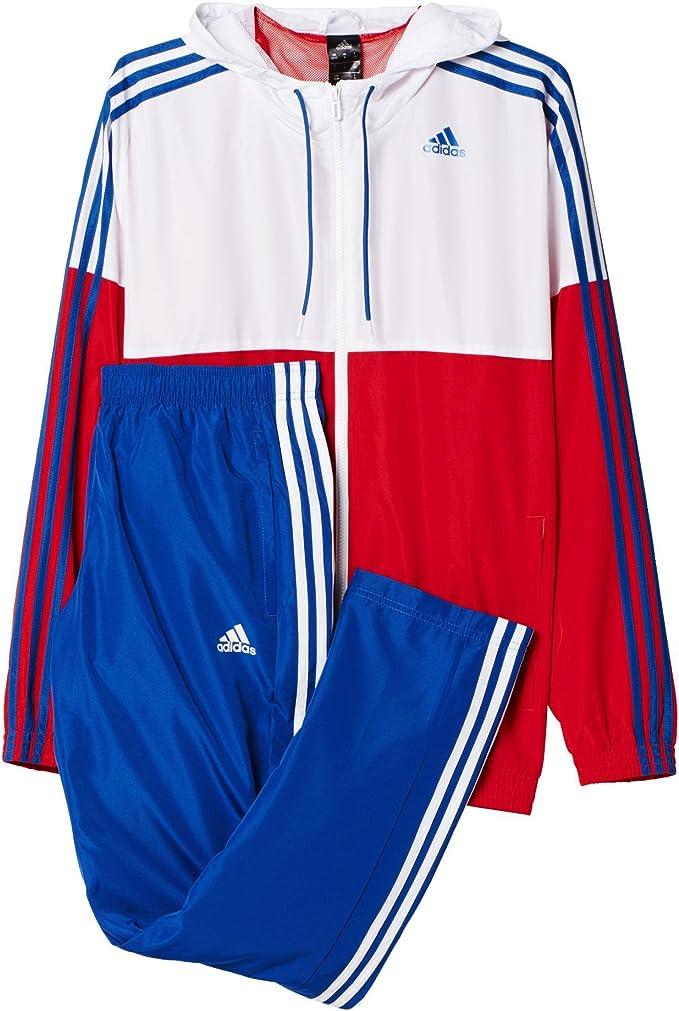 Serena interfaz Azul  adidas Mens TS Train WV Tracksuit Red/White 168: Amazon.de: Bekleidung