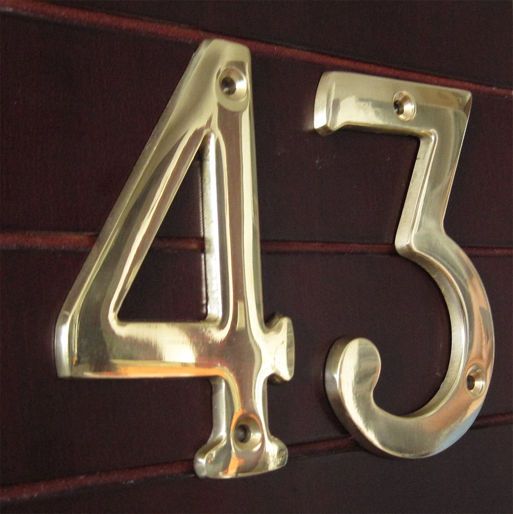 ZW Hardware A200 4 Inch Brass Matt Nickel Plated House Number 1