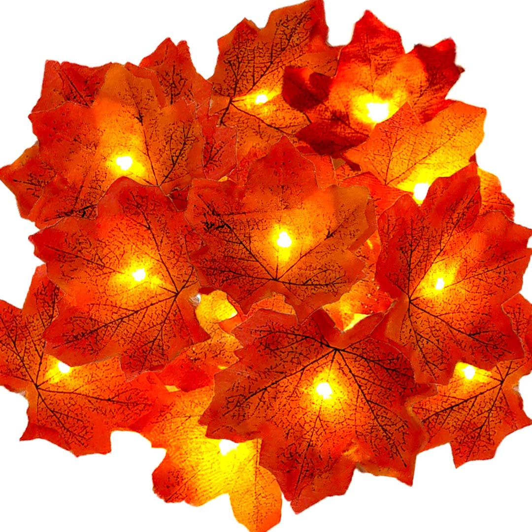 Beleuchtung led lichterkette herbst blätter girlande ...