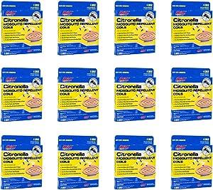 PIC Mosquito Repellent (12 Packs of 4) CIT 4, Citronella Coils