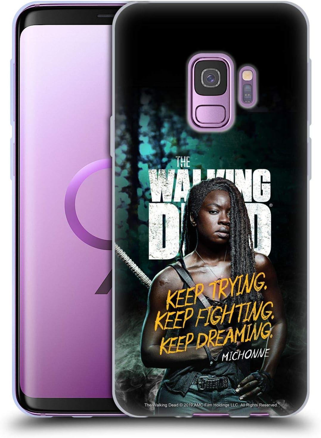 Head Case Designs Offizielle Amc The Walking Dead Michonne Staffel 9 Zitate Soft Gel Huelle Kompatibel