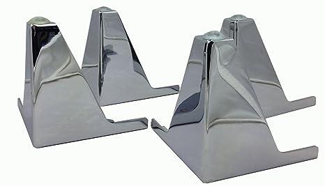 Amazon.com: 4 x cromado patas de metal pies de muebles para ...