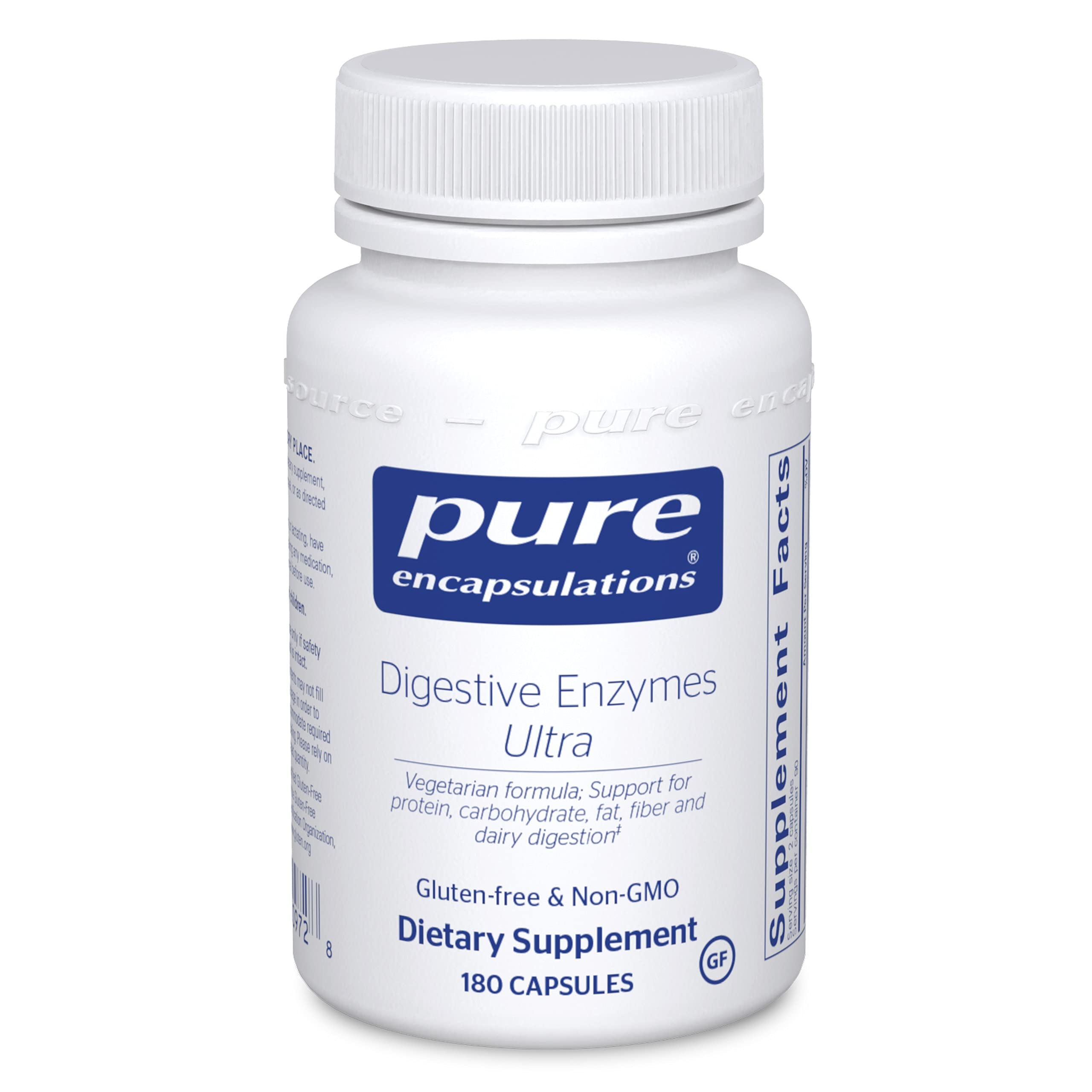 Pure Encapsulations Digestive Enzymes Ultra   Supplement to Aid in Breaking Down Fats, Proteins, and Carbohydrates for Digestion*   180 Capsules
