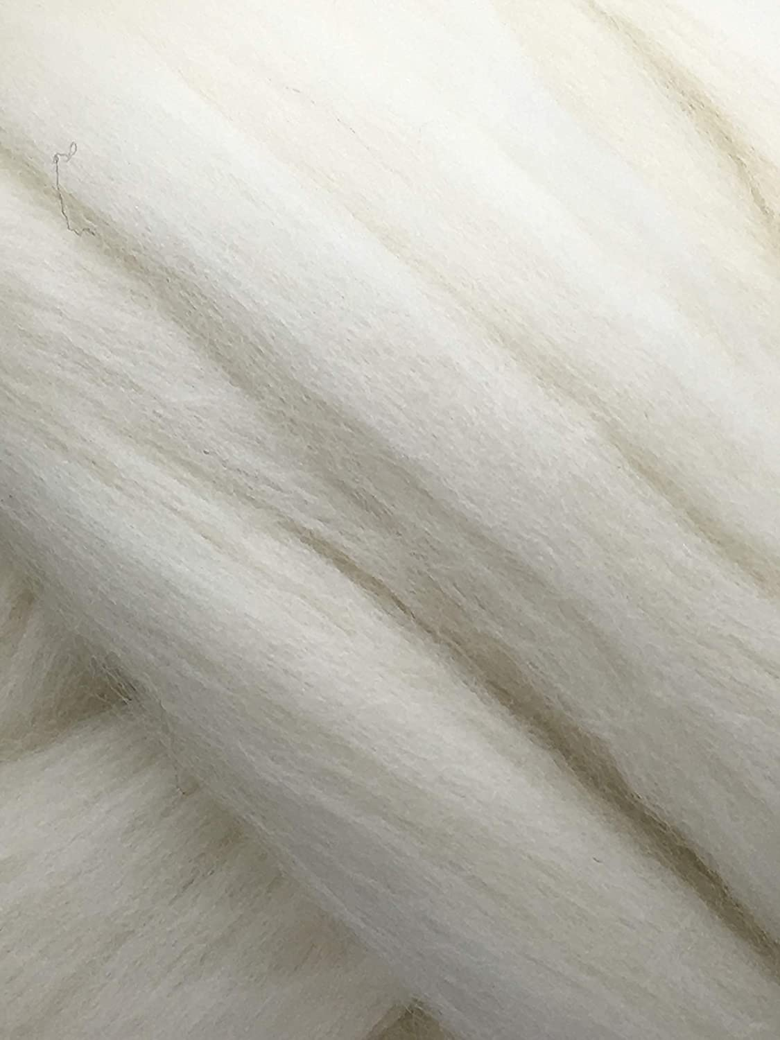 SUPER SALE 1 lb POUND Natural White Wool Top Roving Fiber Spin, Felt Crafts LUXURIOUS with FAST SHIPPING! 1lb Shep's Wool Roving-White-1lb-56s