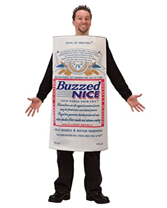 Mens Halloween Costumes Buzzed Beer Can Costume College Humor Easy Costume Sizes One Size  sc 1 st  Amazon.com & Amazon.com: Mens Halloween Costumes Buzzed Beer Can Costume College ...