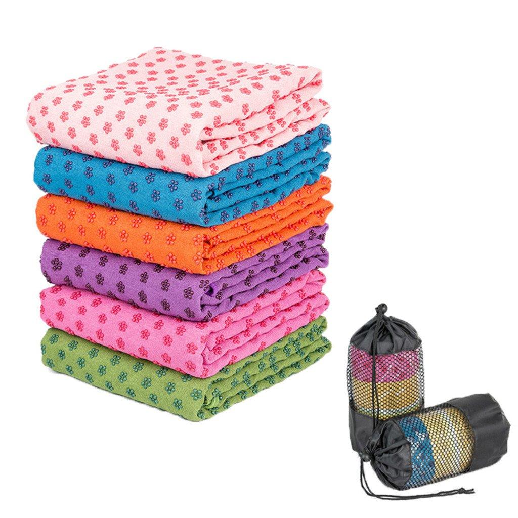SIMYJOY 72 x 24 accessori coperta antiscivolo Yoga//Pilates Mat Asciugamano con borsa di trasporto Purple