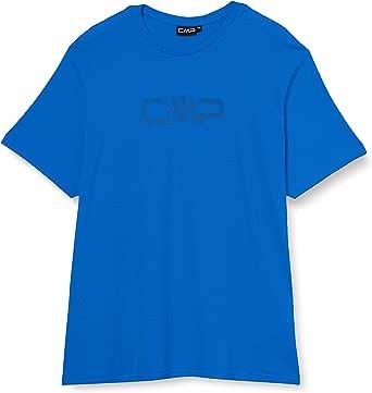 CMP T-Shirt Einfarbig 100% Baumwolle Mit Logo 30d6397p Camiseta Hombre