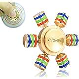 F-TUBAME 全銅製 ハンドスピナー hand spinner 指スピナー ノイズ低減 セラミックのボールベアリング おもちゃ フォーカス玩具 人気の指遊び ストレス解消 高級感 高品質 重量感