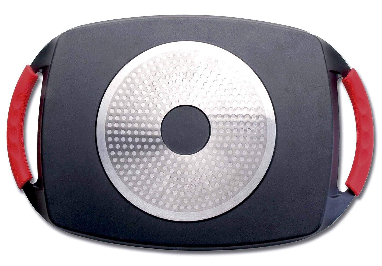Lacor Lacor-25547-Plancha Grill Eco Piedra 47x27x2cm-Negro, Negro, 47x27x2 cm