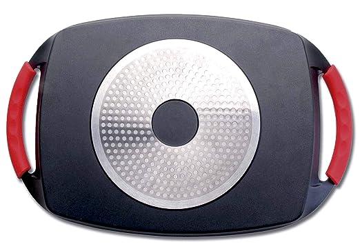 Lacor 25547 - Plancha Grill Eco Piedra 33,5x25 cm - Negro