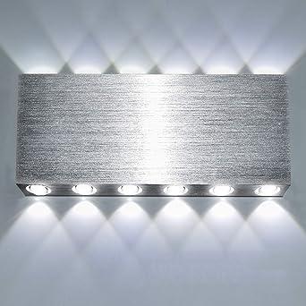 LED Wandleuchte Innen Wandlampe Up Down Modern Wandbeleuchtung Flurlampe PE