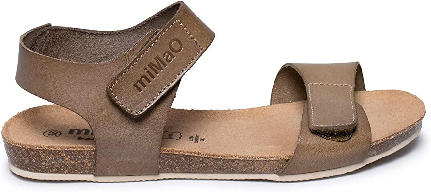 Zapatos miMaO. Zapatos Piel Mujer Hechos EN ESPAÑA. Sandalia Bio Plana Mujer. Sandalia Plana Velcro con Plantilla Ultra Confort Bio: Amazon.es: Zapatos y complementos