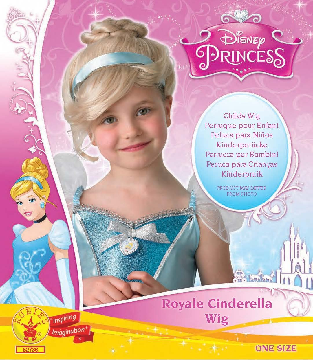 Rubie's Official Cinderella Wig, Children Costume - One Size