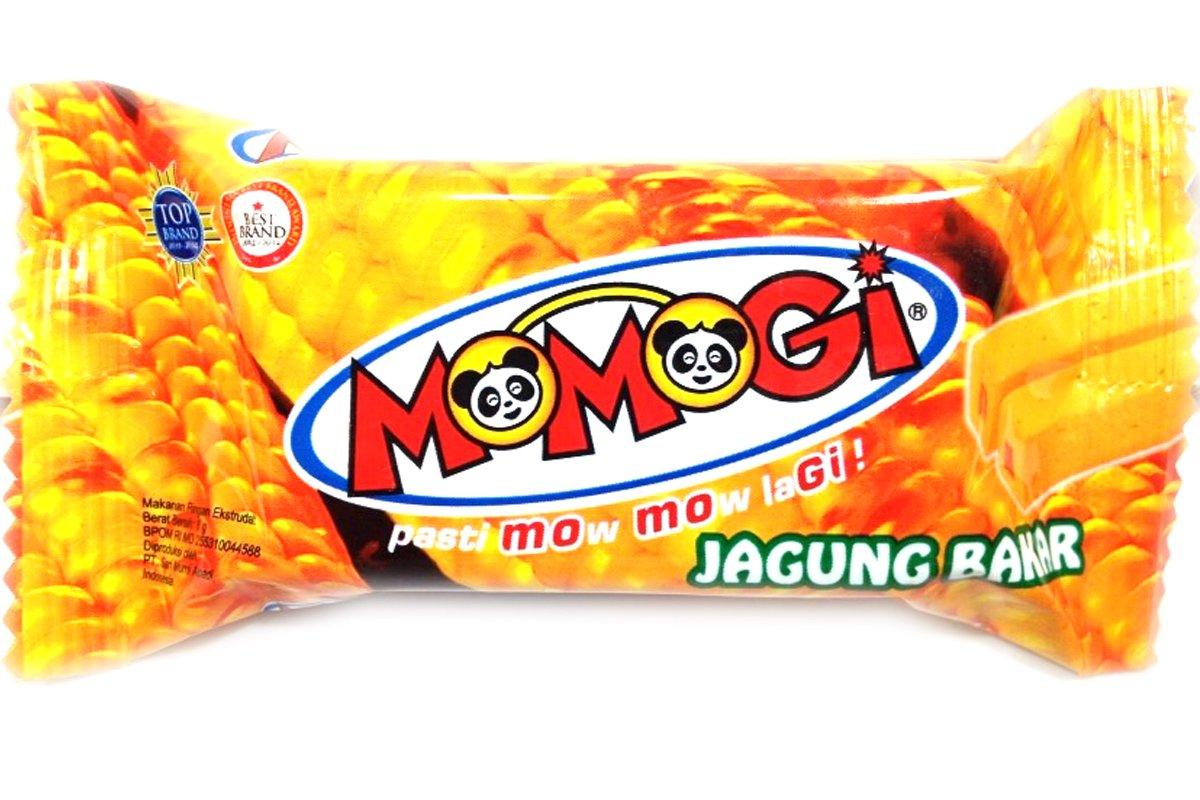 Momogi Corn Stick Roasted Corn Flavor (Stick Jagung Bakar) - 0.35oz (Pack of 1)