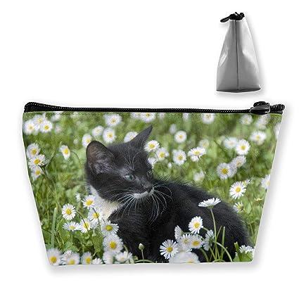 Lindo gato de manzanilla flor para mujer de viaje bolsa de ...
