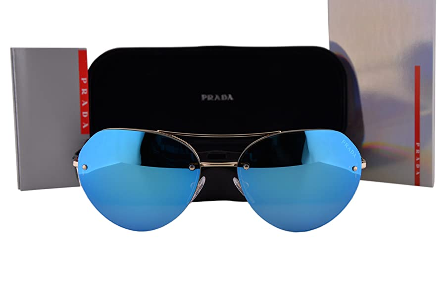ffebf33fa7a8 ... canada prada ps57rs sunglasses pale gold w light green mirror blue lens  zvn5m2 sps 57r 03d9a