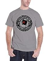 Rage Against the Machine T Shirt Bulls on Parade Flag logo Nue offiziell Grau