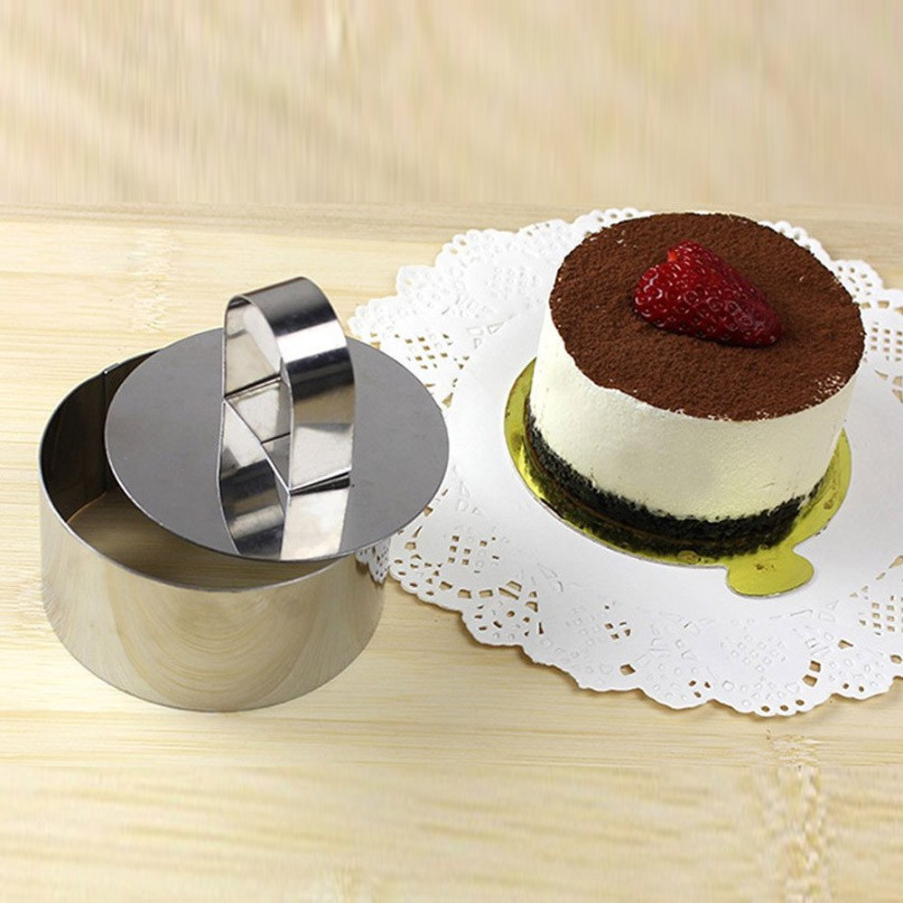 Pastry Cheese Mousses Cake Mould Pan Sectional Shape Baking Dish Dessert Ring Bakeware Mold Round Square Heart Forms by Fenleo