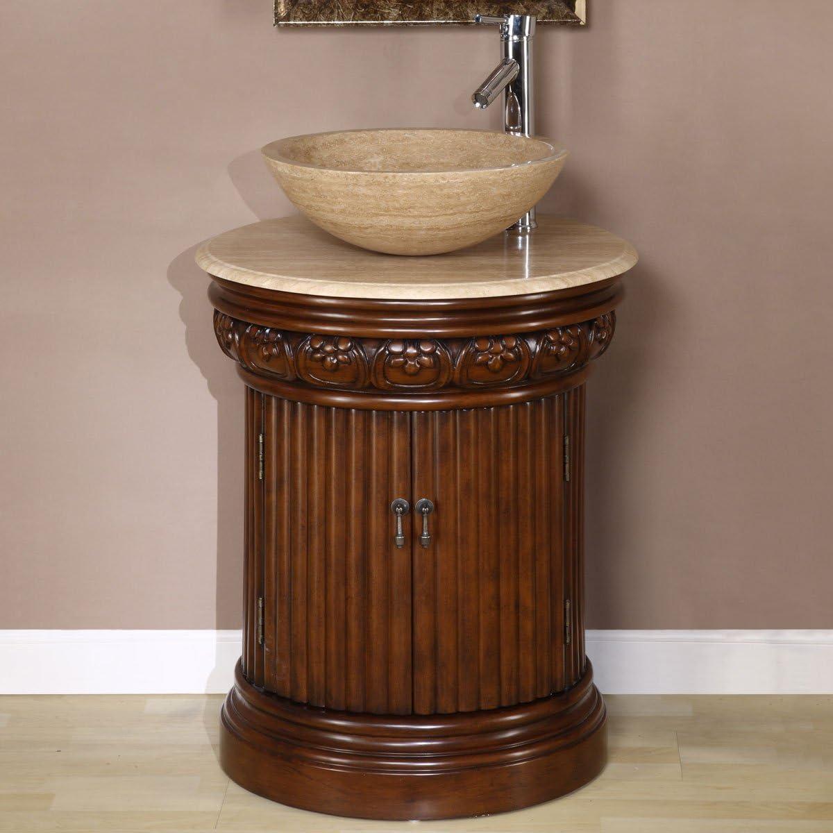 Silkroad Exclusive HYP-0160-T-24_SRS-0029B Bathroom Vanity, Inch