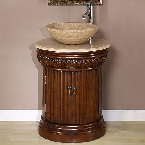 Silkroad Exclusive HYP-0160-T-24_SRS-0029B Bathroom Vanity