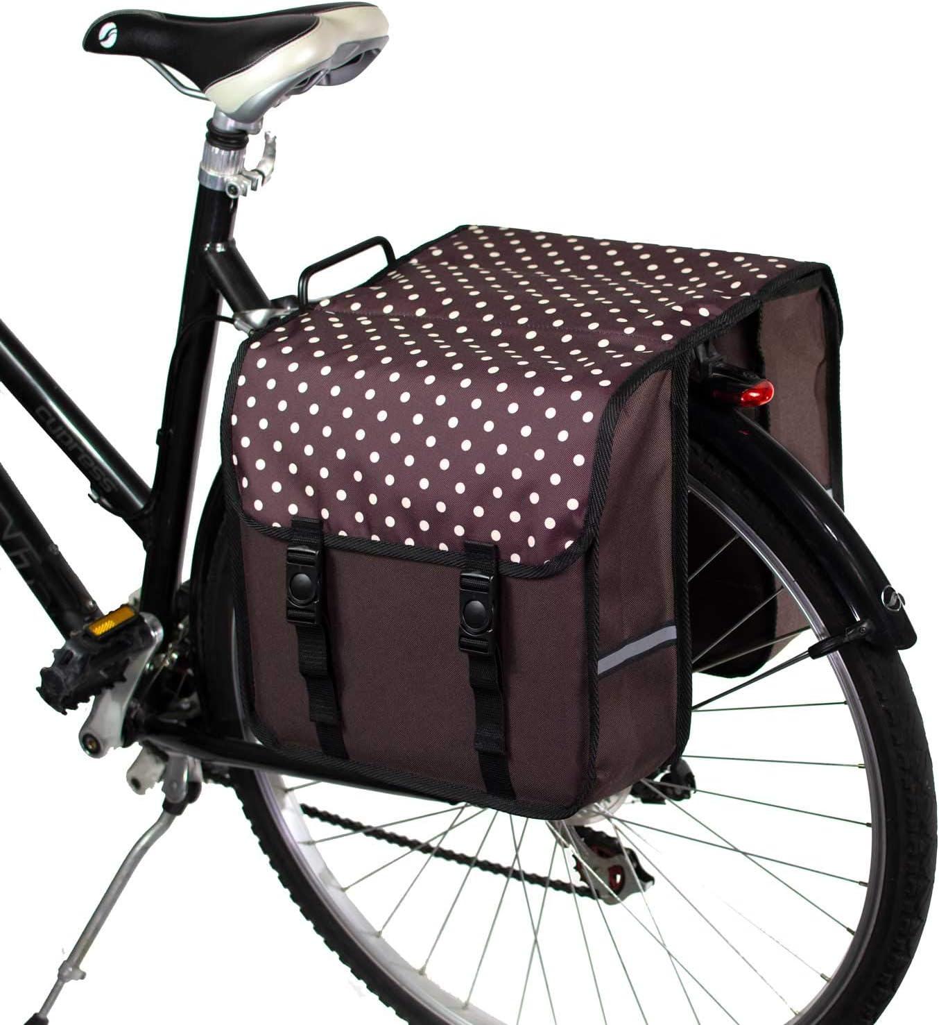 BikyBag Clásica Doble alforjas Bolsa para Bicicleta Mujer - Hombre ...