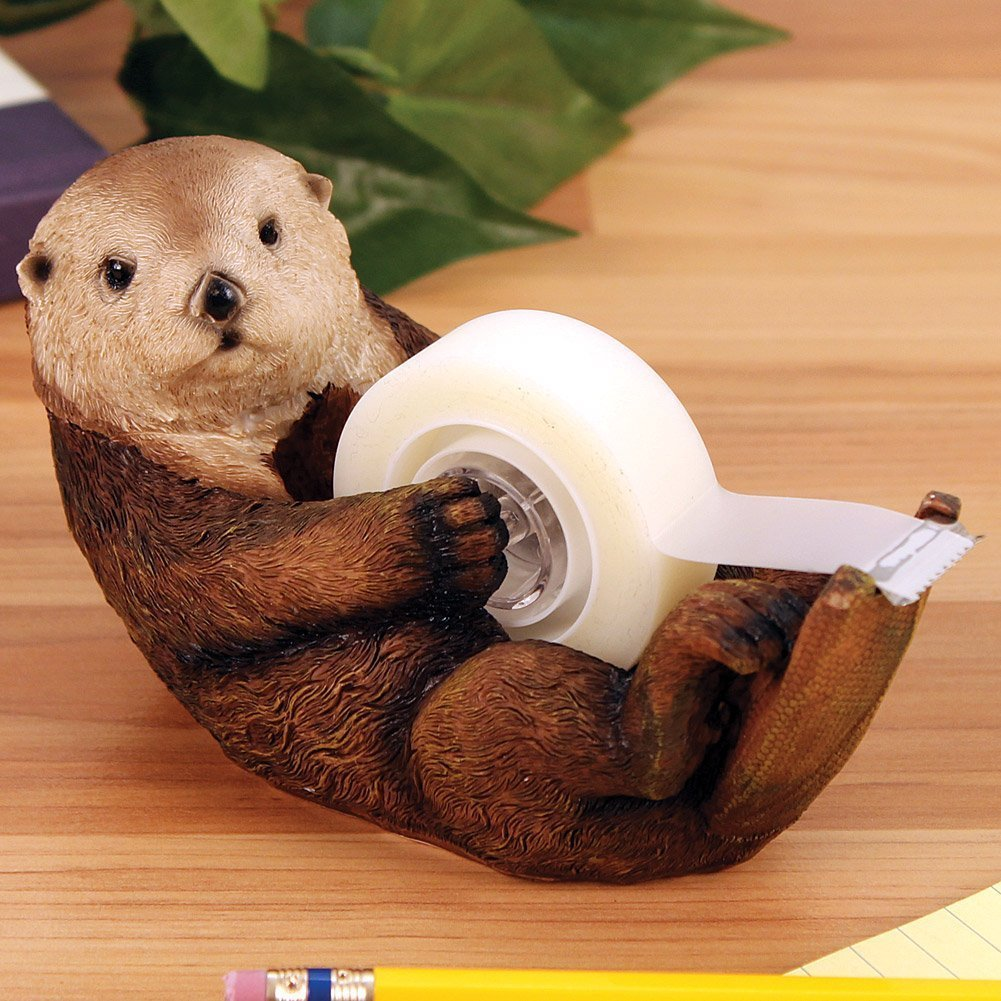 Otter Tape Dispenser - Cute Water Animal Office Desk Accessory STREAMLINE FBA_15913Q